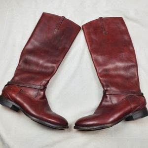 Frye Womens Lindsay Plate Knee High Boots Size 6.5